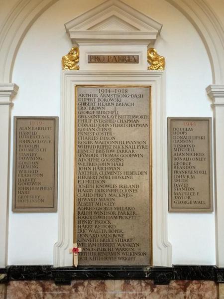War memorial at the Royal College of Music