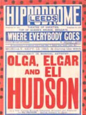 A flyer advertising the Hudson Trio
