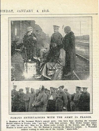Newspaper cutting 1915