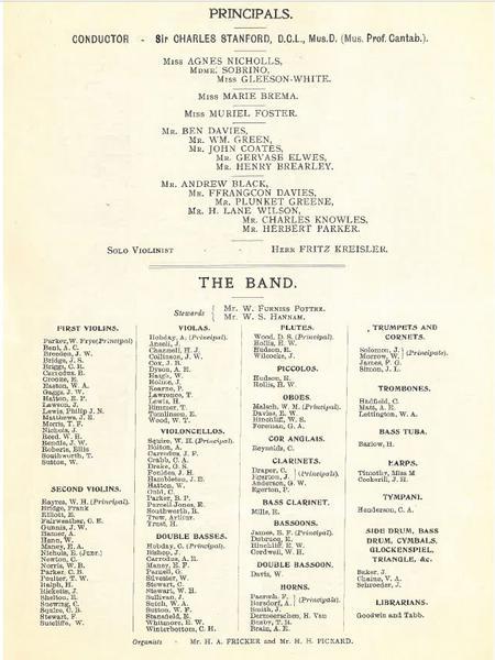 London Symphony Orchestra, Leeds Festival 1904