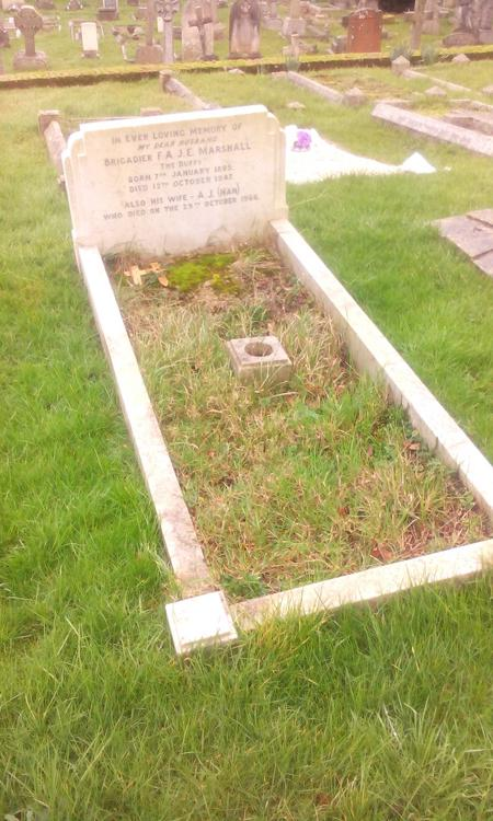 Marshall and his wife's grave