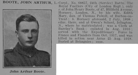Profile picture for John Arthur Boote