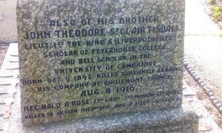 War memorial, St George's Church, Deal, Kent