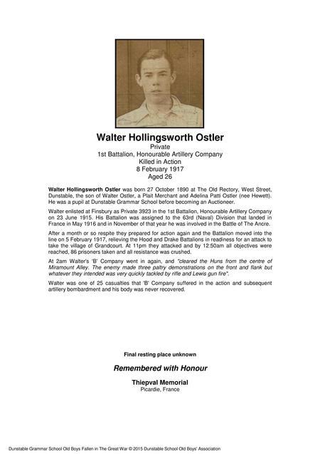 Walter Hollingsworth Ostler