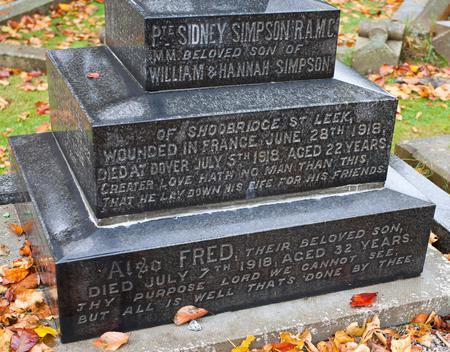 Grave in Leek Cemetery