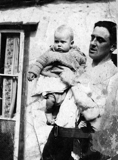 Bert Wells with his son George born 14th September