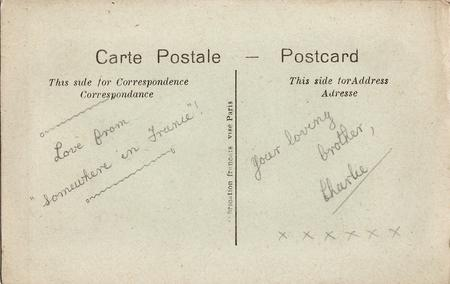 """Reverse of postcard """"Love and Kisses"""""""