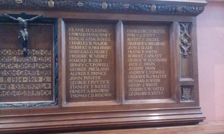 Memorial, All Saints Church, Kingston, Surrey
