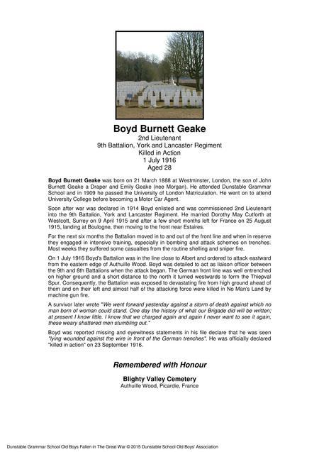 Boyd Burnett Geake