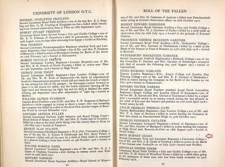 University of London O.T.C.