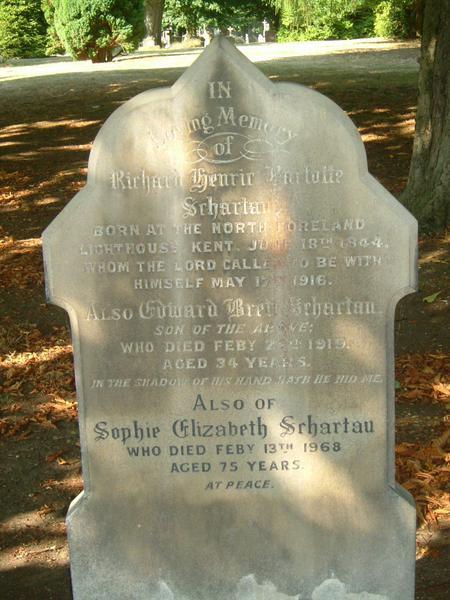 Gravestone of Edward Brett Schartau