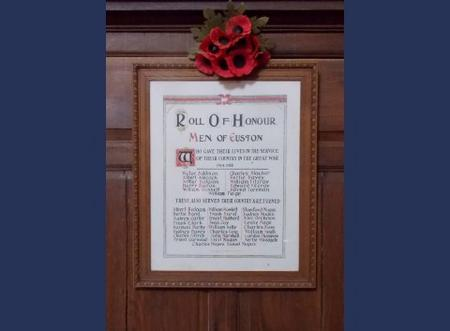 Roll of Honour:men of Euston, Suffolk