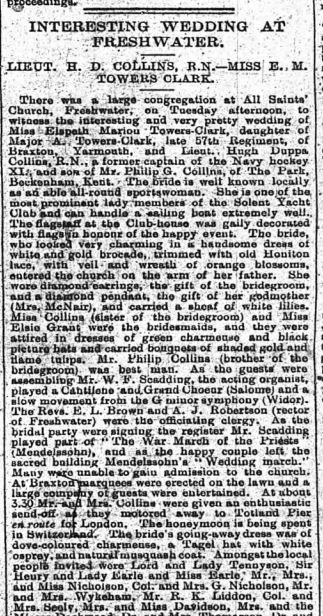 IoW County Press 8 February 1913
