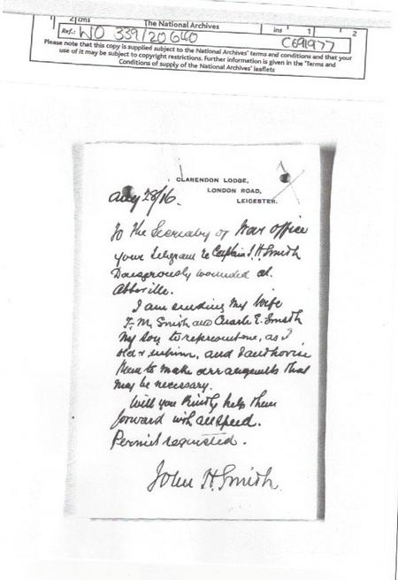 Letter from Jacob's father