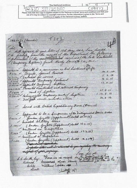 Jacob's Service Record