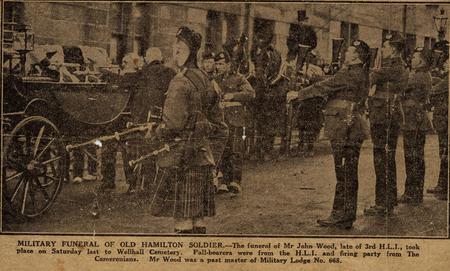 Military funeral of John Wood, Hamilton, 1930
