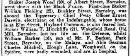 Yorkshire Evening Post 9 June 1916 p5