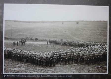 Lancashire Fusiliers the day before the Somme