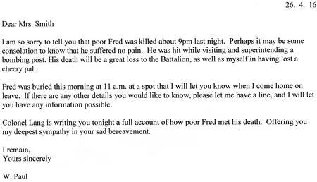 Transcript of W. Paul letter 26th April 1916