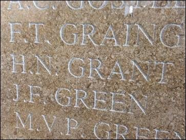 Henry's name on the Wall at Barclays Bank H.O.