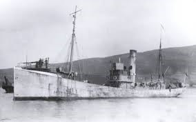 A HM Trawler as used in WW1 converted to minesweep