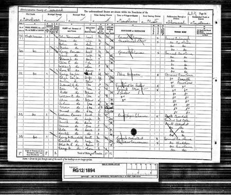 Arthur Taylor 1891 Census