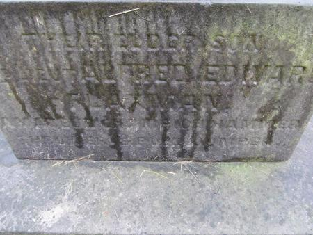 Close up of headstone inscription 1