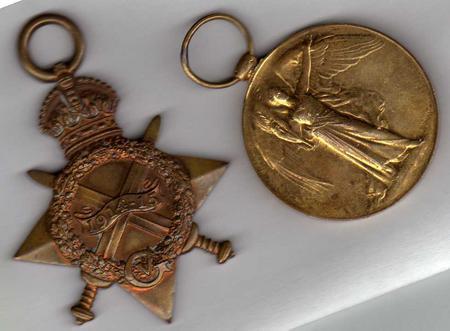 Front of William Poskitt's medals