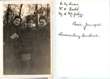 M A Ripley & colleagues, Paris, Jan 1915