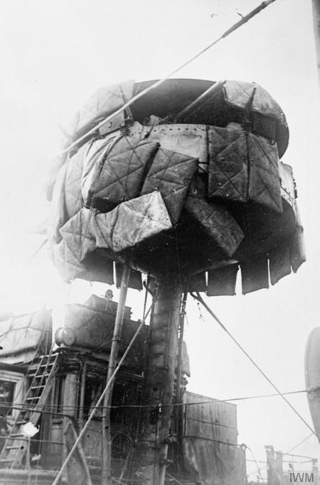 Foretop of HMS Vindictive, after modifications