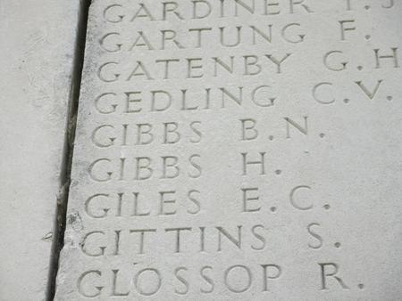 Inscription on the Villers Bretonneux Memorial