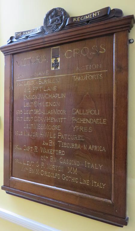 Hampshire Regiment Victoria Cross Memorial