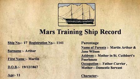 Mars Training Ship Record
