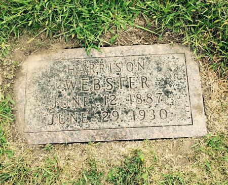 Headstone of Harrison Webster