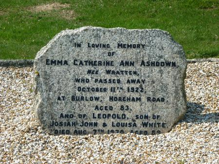 Memorial stone for Leopold White