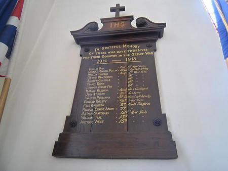 War Memorial - Holy Trinity Church, Dacre Banks