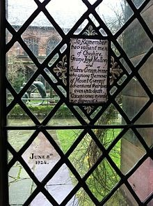 Memorial - chester cathedral