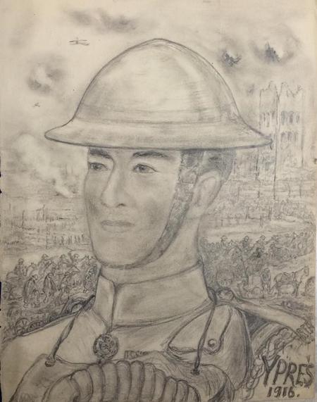 ?self portrait - Ypres 1916