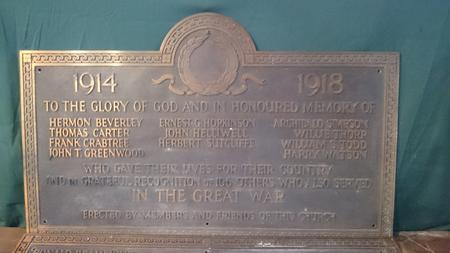 Mytholmroyd Wesleyan Church memorial