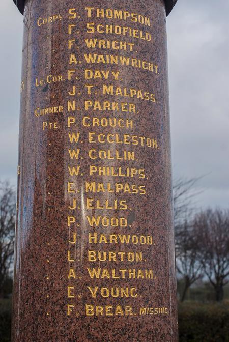 Ryhill & Havercroft Memorial List 2