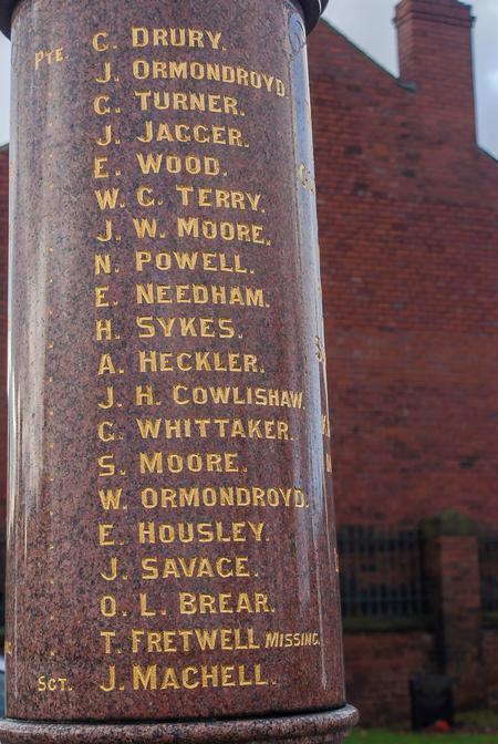 Ryhill & Havercroft Memorial List 1