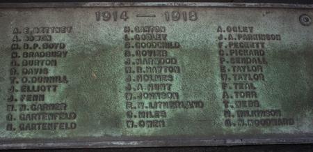 Felkirk Memorial List