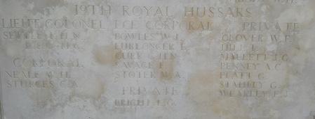 Memorial to R H N Settle
