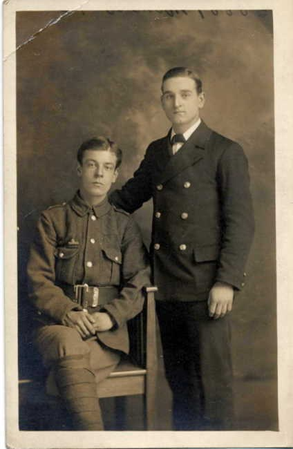 Gordon Purdy and his brother-in-law George Monro