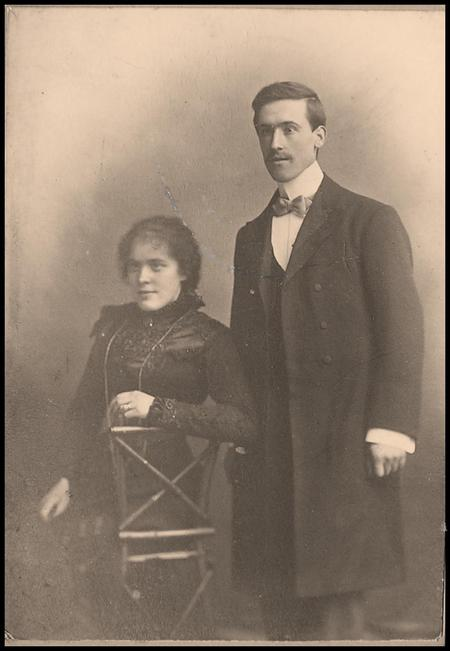 Walter with his wife Annie.