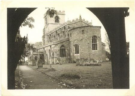 Wing church, photographed from the lych gate.