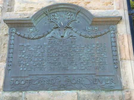 Seaforth Highlander Memorial Elgin
