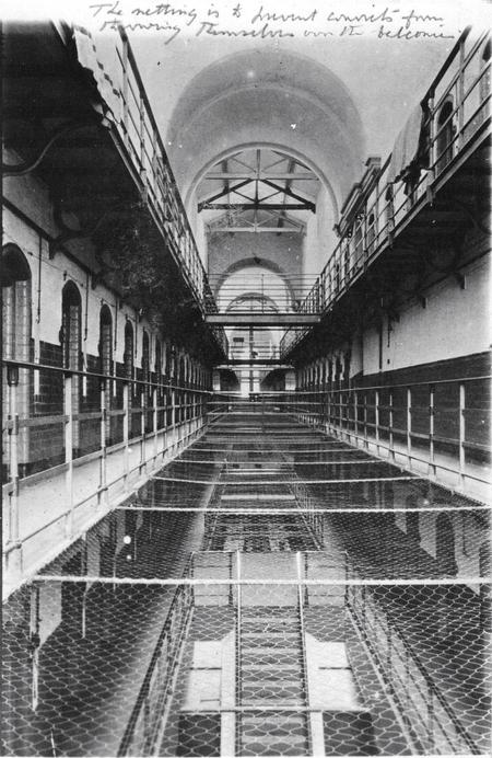 Interior of a prison in which Claughton was held