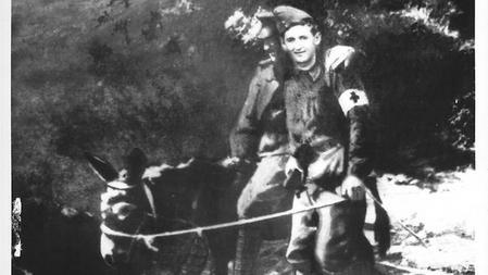 John Simpson Kirkpatrick and his donkey