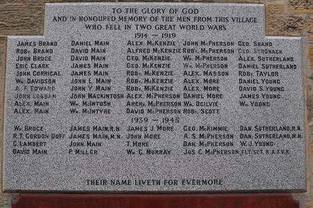 Hopeman Memorial Plaque - John Mackintosh